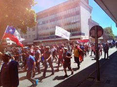 Demo in Valdivia